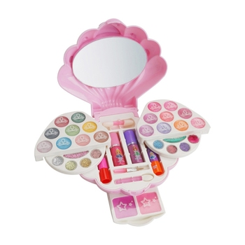 Kids Makeup Set Pretend Play Eco-friendly Cosmetic Make up Beauty Safety Gifts Kit Non-toxic Toy bellylady kids girl makeup set eco friendly cosmetic pretend play kit princess toy gift