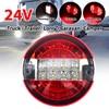 24 v 20LED 5.5 インチラウンドテールライトリアブレーキ停止信号ランプ車のトラックローリーバントレーラーキャラバン車