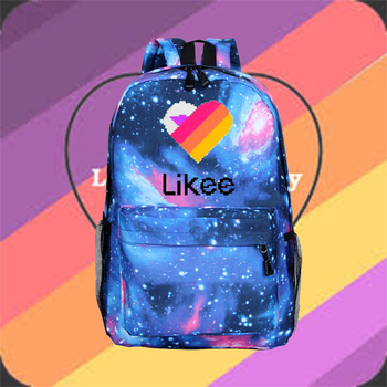 customize your name logo image backpack for teenage men women travel bags children school bags backpack kids book bag gift bag Likee Russia Style Backpack Fashion Women Men Travel Rushsack School Bag For Teenage Girls Boys Children Backpacks Book Bags