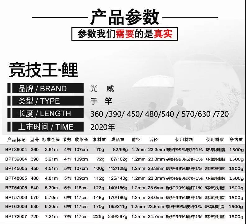 Taiwan vara de pesca de carbono ultra-leve
