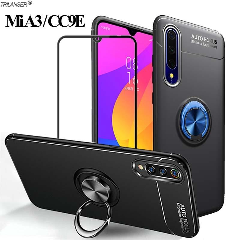 360 Ring Case For Mia3 Xiaomi A3 Magnetic Stand Holder Cover Xiomi-Mi-A3 Shockproof Bumper Cases Mia 3/A 3 Xiomi cc9e Silicone(China)