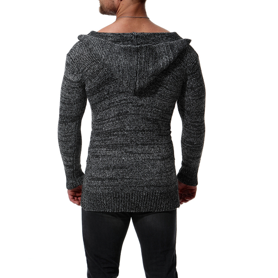 Winter Sweater Men Solid Color Turtleneck Sweaters Warm Casual Knitted Pullovers  Sweater