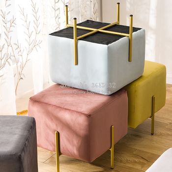 Modern Ottomans Creative Fabric Change Shoe Bench Stool Home Doorway Clothing Store Fitting Room Small Sofa Footstool