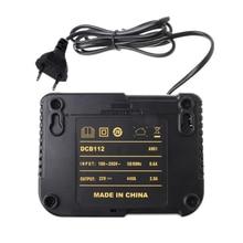 Dcb112 Li Ion Battery Charger For Dewalt 10.8V 12V 14.4V 18V Dcb101 Dcb200 Dcb140 Dcb105 Dcb200 Eu Plug Black