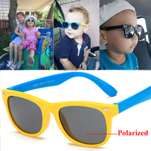 купить Boy Girls Sunglasses Kids Sun Glasses Children Glasses Polarized Lenses Girls Boys Tr90 Silicone Child Mirror Baby Eyewear дешево