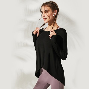 Autumn Women Gym Yoga Crop Tops Yoga Shirts Long Sleeve Workout Tops Fitness Running Sport T-Shirts Training Sportswear S-L 2
