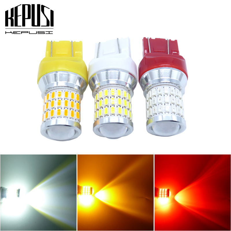 2x 7443 <font><b>T20</b></font> W21/5W Amber/Red/White <font><b>LED</b></font> Auto Turn Signal Brake <font><b>Bulb</b></font> Lamps Parking <font><b>Leds</b></font> <font><b>Rear</b></font> Lights Reverse Stop light 12V 24V image