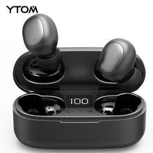 YTOM T3 TWS Mini True Wireless Bluetooth 5.0 Earphone with LED display Bass handfree