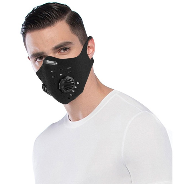 Maschera di Carbonio Nero Riutilizzabile 3