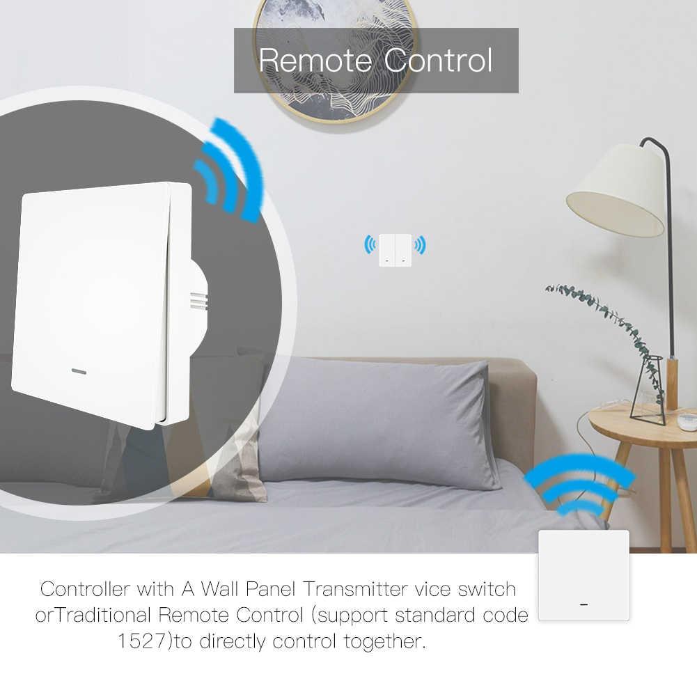 WiFi inteligentny przełącznik wciskany RF433 panel ścienny zestaw z nadajnikiem Smart life pilot aplikacji Tuya działa z Alexa Google Home
