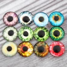 Mixed Eye Pupil Photo Round Glass Cabochon 8mm 10mm 12mm 14mm 16mm 18mm 20mm 25mm 30mm Demo Flat Back ForHandmade DIY Jewelry