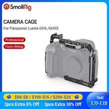 Smallrig para panasonic lumix gh5/gh5s gaiola da câmera com 1/4 threads 3/8 threads threads buracos + placa de sapata fria montagem kit ferroviário nato 2646