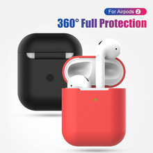 Candy Color Cases Earphone Case For airPods 2 Silicone Soft Cover Wireless Bluetooth Headphone Pouch For airPods Protective Case(China)