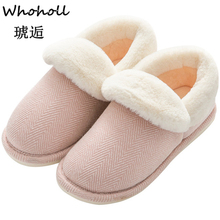 Women Winter Warm Ful Slippers Cotton Sheep Lovers Home Indoor Plush Size House Shoes Woman Wholesale 44