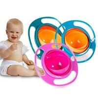 Bebê bonito do bebê giroscópio tigela universal girar à prova de derramamento tigela crianças copos 35fp11|Terrina de chá|   -