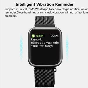 Image 4 - P80 montre intelligente plein écran tactile Ip68 étanche montre intelligente pour Iphone Xiaomi téléphone surveillance de la fréquence cardiaque femmes hommes mode