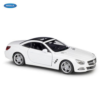 WELLY 1:24 Mercedes-Benz 2012 SL500  sports car simulation alloy car model crafts decoration collection toy tools gift цена 2017