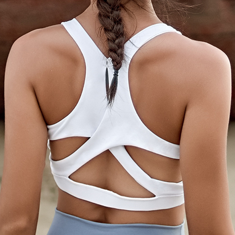 Image 3 - Mermaid Curve Autumn New Gym Fitness Women Shockproof Sports Bra Push Up Bras Padded Yoga Bras Sexy Back Hollow out Ladies Bras-in Sports Bras from Sports & Entertainment