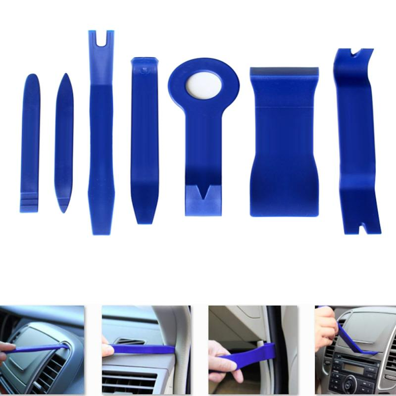 7Pcs Tool Set Plastic Car Repair Tool <font><b>Voiture</b></font> Inside Door Plank Lever Auto Door Removal Tools Car Stereo Disassembly Tool Kit image