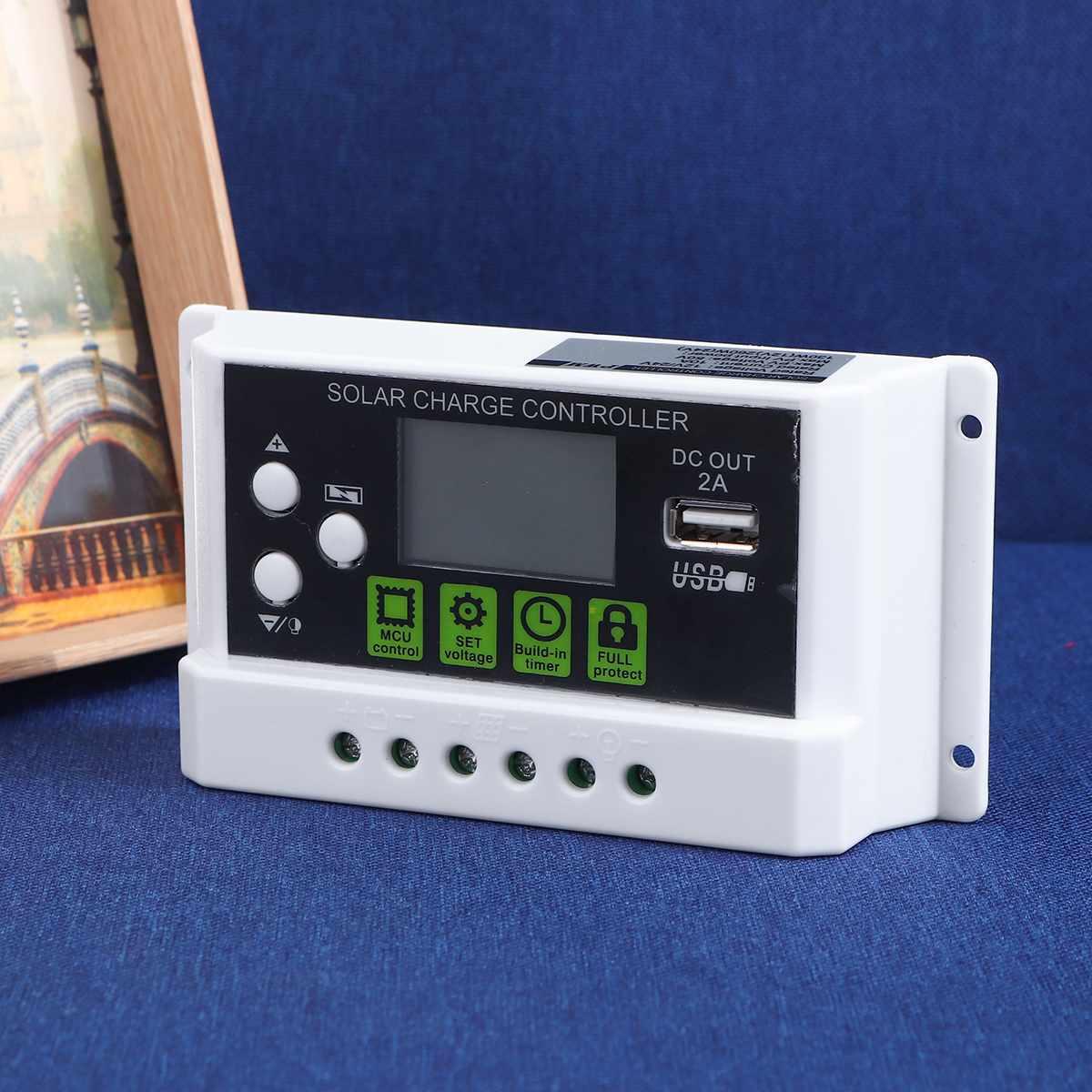 pwm 10a dupla saida usb 5v painel solar regulador de bateria controlador de carga com lcd