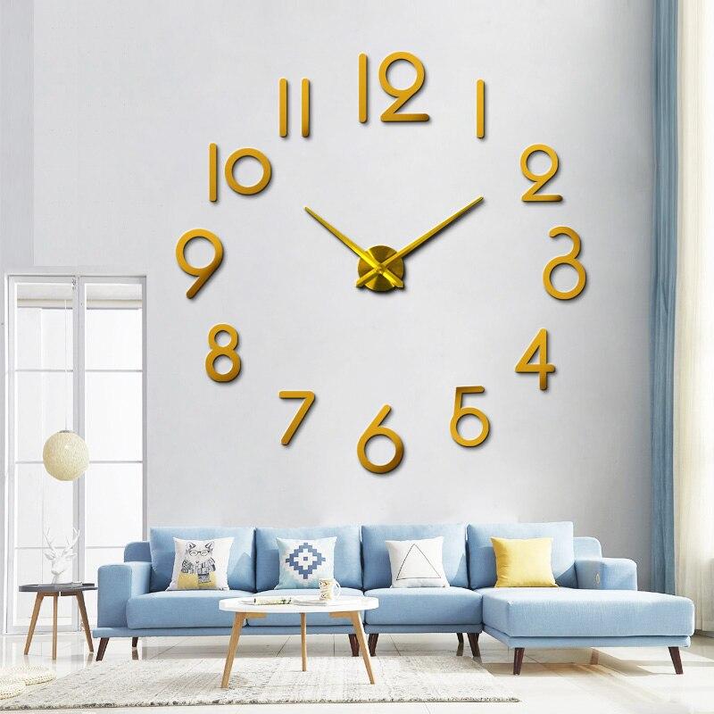 2020 Free Shipping muhsein Brand New Crystal Wall  Clock Watch  Horloge 3d Diy Sticker Home Decoration Living Room Quartz Needle