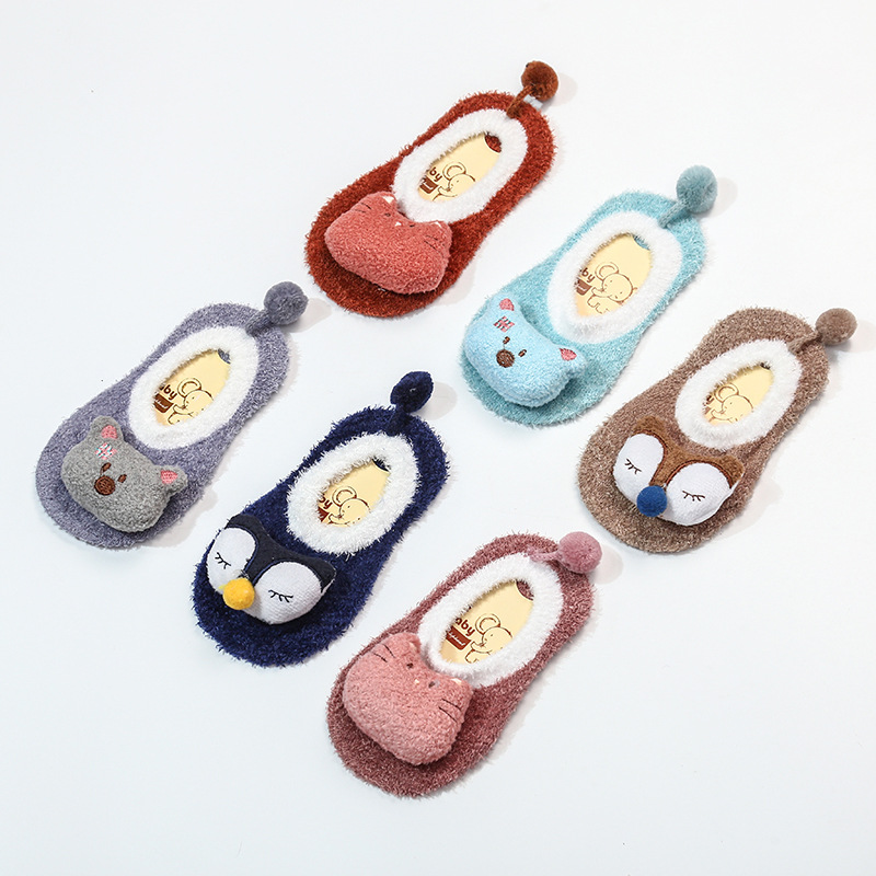 New Children's Autumn Winter Warm Socks Baby Non-slip Bottom Socks Socks Doll Baby Socks Baby Toddler Socks Wholesale