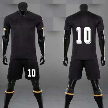 Mężczyźni młodzież piłka nożna Jersey mundury Survetement oddychająca dzieci puste piłka nożna zestawy sportowe garnitur szkolenia dostosować drukuj odzież sportowa tanie i dobre opinie NoEnName_Null Chłopcy Poliester Pasuje prawda na wymiar weź swój normalny rozmiar