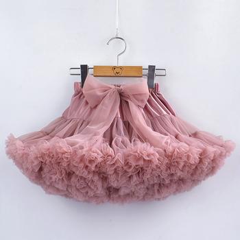 9M-8Years dziewczyny Tutu spódnice stałe puszysty tiul księżniczka suknia Pettiskirt dzieci balet występ na imprezie spódnice dla dzieci tanie i dobre opinie TANGDUOLA Na co dzień CN (pochodzenie) Pasuje prawda na wymiar weź swój normalny rozmiar NYLON Poliester Łuk PP002