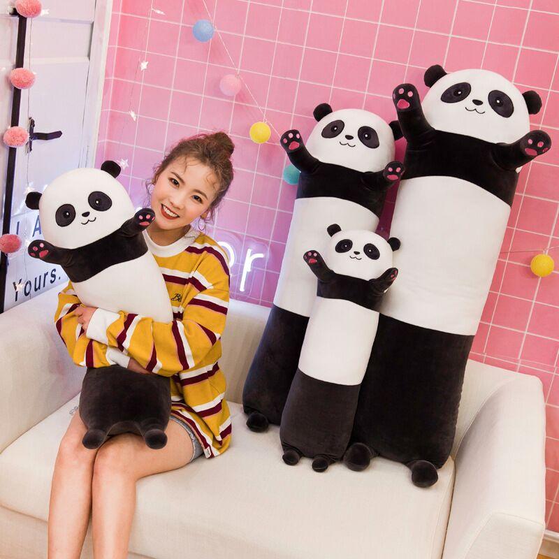 70/90/110cm Cute Soft Long Panda Koala Pillow Plush Toys Stuffed Office Nap Pillow Bed Sleep Pillow Home Decor Gift Doll