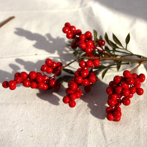Image 5 - Berry Artificial Flower Fake red berries Christmas Flower New Years decor Tree Artificial berry Christmas Decoration For Home