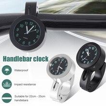 Uniwersalny wodoodporny motocykl zegar podświetlany nocny kierownica motocykla zegar montażowy zegarek Dial kierownica rowerowa zegarek zegarowy