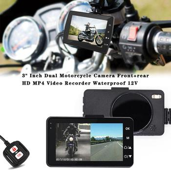 3 Inch Motorcycle Recorder Wire-controlled Waterproof Motorcycle Video Recorder HD 1080P Front Rear Dual Recording Camera 12V
