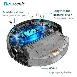 Image 5 - Proscenic robotlu süpürge 820 T, Wi Fi ve Alexa bağlı, 3 in 1 robot elektrikli süpürge, güçlü 2000PA halı ve zemin