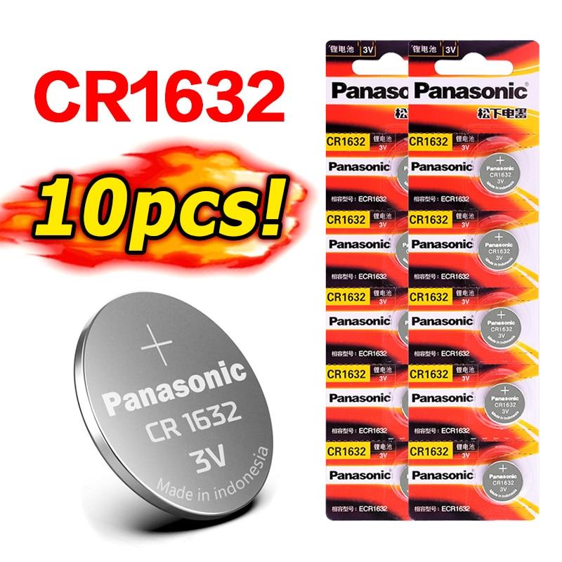PANASONIC cr1632 3 в 10 шт. Оригинальный Новый аккумулятор для кнопочных элементов, батарейки для часов, компьютера cr 1632