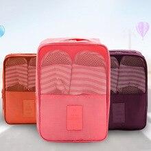 Creative Multi-function Large Nylon 6 Colors Portable Travel Organizer Storage Bag for Shoes Toiletries