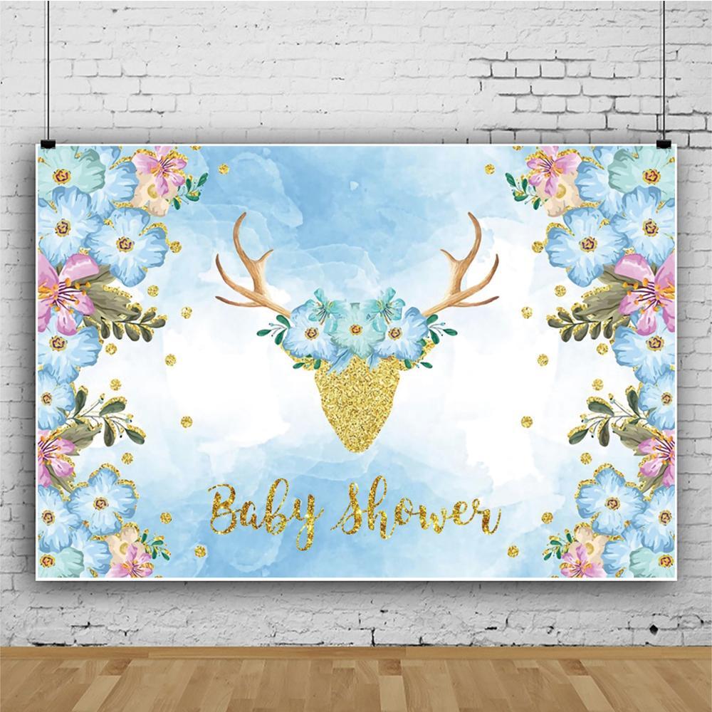 Виниловый фон для фотосъемки новорожденных с изображением оленя