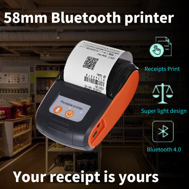 58mm Bluetooth Pocket Portable Thermal Receipt Printer Mini Wireless Notes Phone Printer Android IOS PC Free APP Bill Impresoras 1