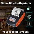58 мм Bluetooth карманный Портативный Термальность чековый принтер мини Беспроводной Примечания телефонные принтер Android IOS и ПК бесплатное прило...