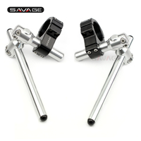 Adjustable Shift Handle Bar For 50mm Fork Tube Clip Ons Handlebars Performance Stunt Motorcycle Accessories Parts CNC Aluminum