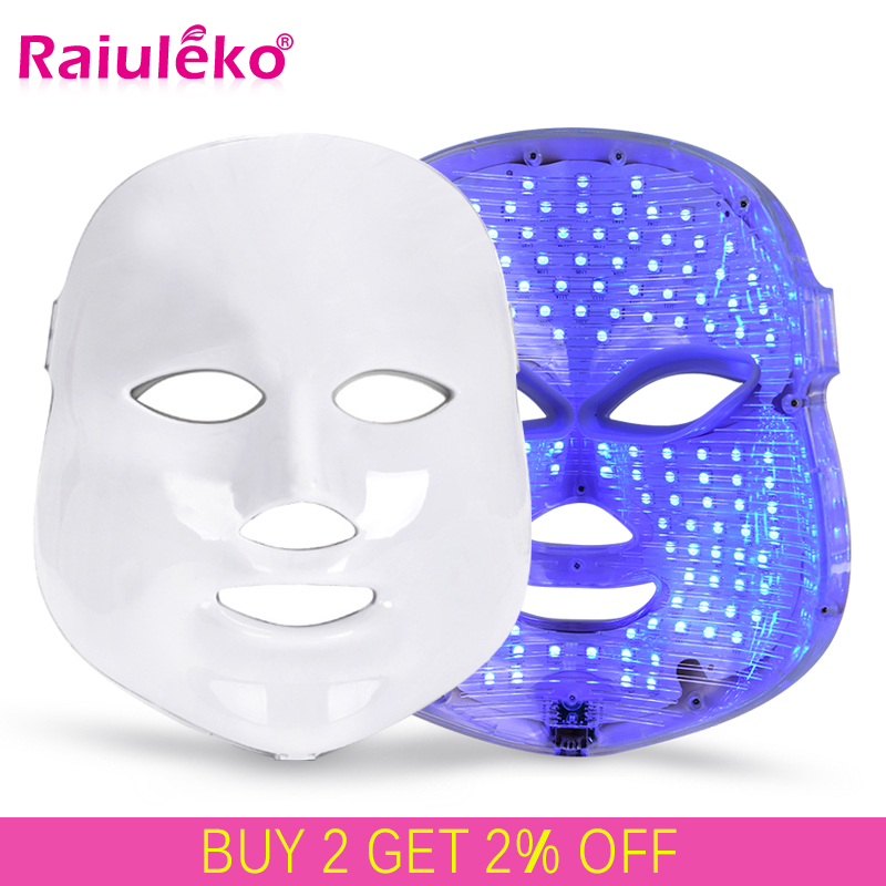 7 Colours LED Facial Mask Mascara Facial Aesthetics Skin Care Rejuvenation Wrinkle Acne Removal Face Beauty Instrument-in Face Skin Care Tools from Beauty & Health