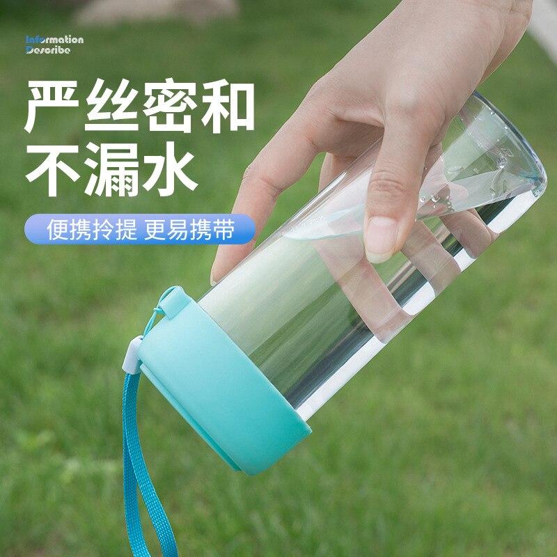 50 шт., портативная детская бутылка для воды, Подарочная рекламная чашка, заказной логотип, прозрачная Спортивная пластиковая чашка для воды,... - 3
