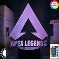 Ночник с логотипом Apex Legends, светодиодный светильник, меняющий цвет, для украшения игровой комнаты, идеи для классных мероприятий, призовых и...
