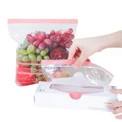 50PC zamykana folia plastikowa Zipper świeże torby przechowywanie żywności torby zamrażarka do przechowywania podróży owoce żywności przekąska konserwacja organizator|Folia i torby plastikowe|   -