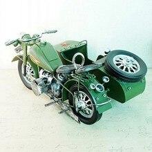 Modelo de motocicleta de figuritas antiguas, acessórios de fotografia de metal, decoração de hogar, regalos de fi