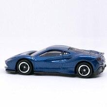 Takara Tomy Tomica No. 059 Ferrari-F8 TRIBUTO BLUE Color Scale 1:62 Diecast Mni Car Model Toy