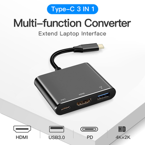 Image 1 - Type C Adapter Type C to USB 3.0 HDTV Converter PD Fast Charge Audio Video Converter Cable for Game Controller Laptop Phone