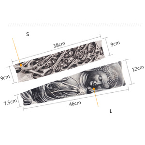 Fashion Nylon Tattoo Sleeves Arm Warmer Unisex UV Protection Outdoor Temporary Fake Tattoo Arm Sleeve Warmer Sleeve