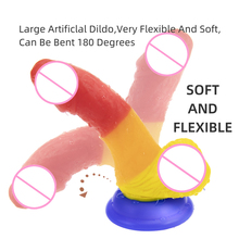 Adult-Products Strapless Dildo Silica-Gel Fake-Penis Rainbow-Heterotype New with Female