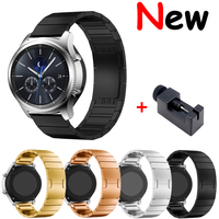 22mm watch band for Samsung galaxy watch gear s3 frontier 46mm 42mm Huawei GT watch stainless steel butterfly buckle strap