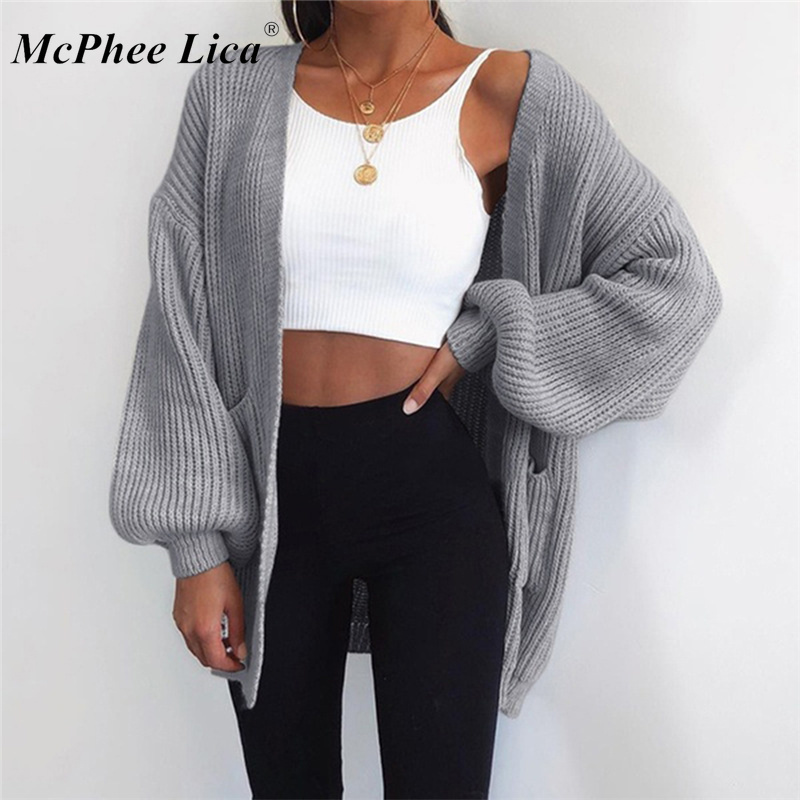 Woman Sweater Casual Batwing Sleeve Knitwear Cardigan Women Large Knitted Sweater Cardigan Jumper Coat 2019 Sueter Mujer#67